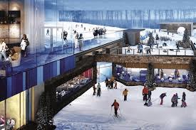 Snow shopping center