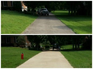Alamo driveway before after