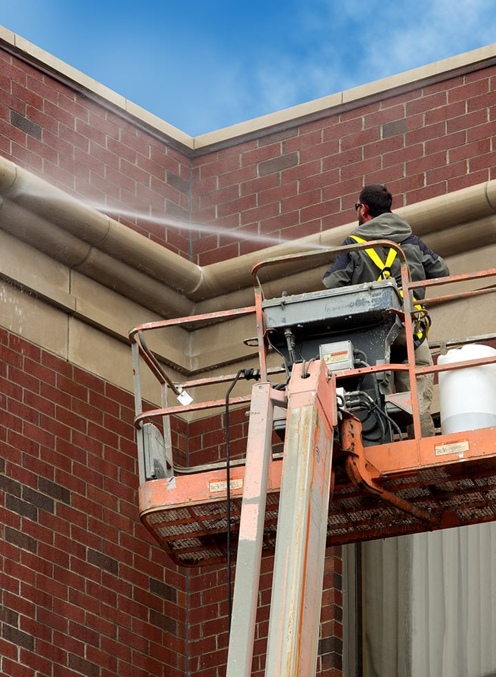 Commercial Pressure Washing roof
