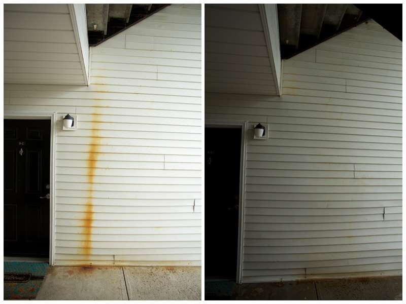 rust siding before and after