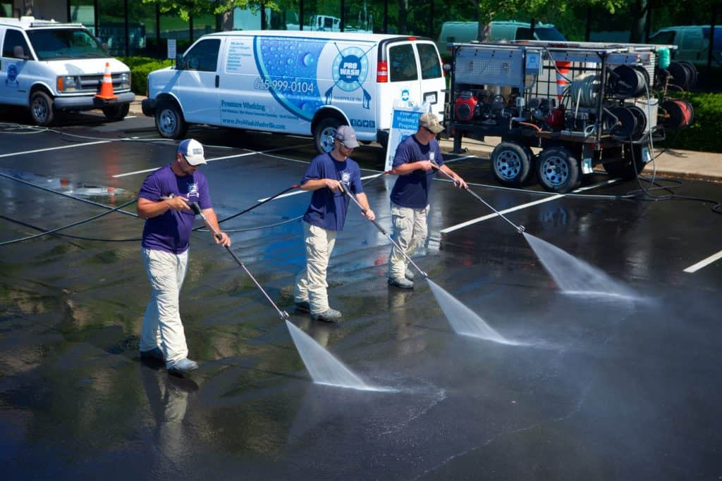 Pressure washing gas stations in Nashville