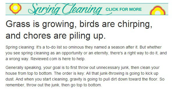 Grass is growing, birds are chirping, and chores are piling up - Spring Cleaning