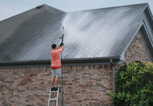 Pressure Washing Large Roof
