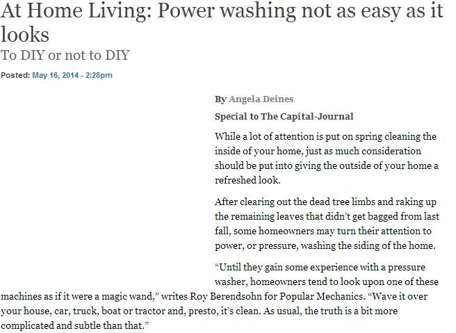 Power washing not as easy as it looks - DIY Washing