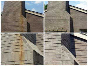 Power Washing Brick Before and After - Preventing Stains