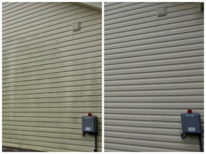Pressure Washing Siding Before and After - Preventing Stains