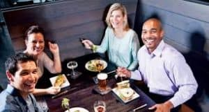 Restaurant customers are happy because the restaurant has been cleaned by the best commercial pressure washing company in Nashville, TN, Pro Wash